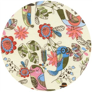 Timeless Treasures, Fun Birds Cream