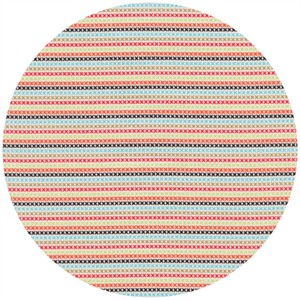Timeless Treasures, Hootenanny Organic, Stitch Stripe Multi