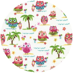 Timeless Treasures, Hula Owls White