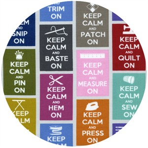 Timeless Treasures, Keep Calm Multi
