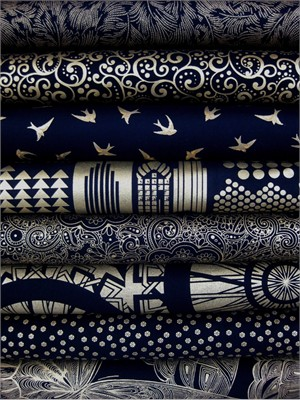 Timeless Treasures, Lux Metallics in FAT QUARTERS, 8 Total