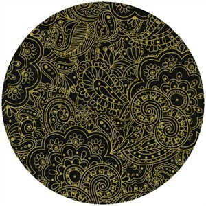 Timeless Treasures, Lux Metallics, Paisley Black