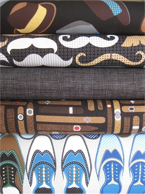 Fabricworm Custom Bundle, Mens Wear, Entire Collection in FAT QUARTERS 5 Total