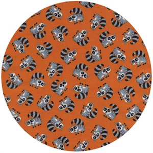 Timeless Treasures, Mini Raccoons Orange