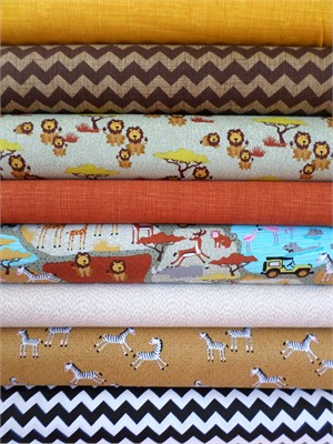 Timeless Treasures, On The Prowl in FAT QUARTERS 8 Total
