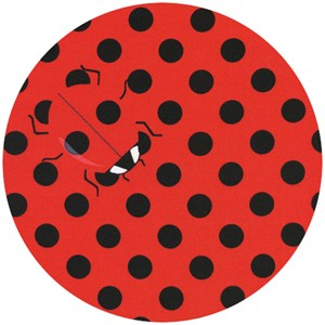 Timeless Treasures, Samarra Khaja Novelties, Secret Lady Bugs Red