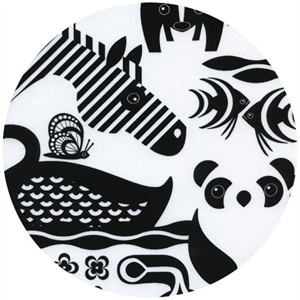 Timeless Treasures, Samarra Khaja Novelties, Wild Life Black and White