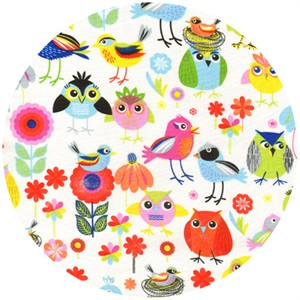 Timeless Treasures, Stylized Birds Multi