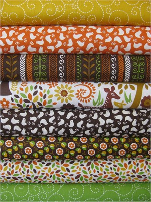 Timeless Treasures, Woodstock in FAT QUARTERS 8 Total