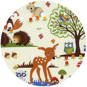 Timeless Treasures, Woodland Scene Cream