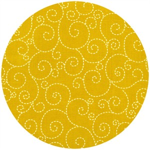 Timeless Treasures, Woodstock, Stitched Swirl Gold