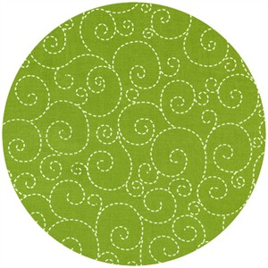 Timeless Treasures, Woodstock, Stitched Swirl Green