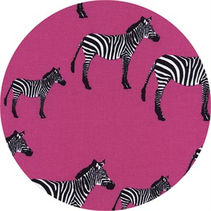 Timeless Treasures, Zebras Pink