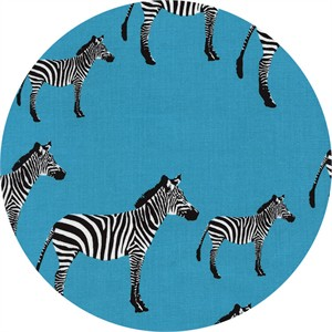 Timeless Treasures, Zebras Turquoise