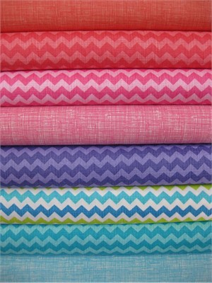 Timeless Treasures, Ziggy Sketch, Spring in FAT QUARTERS, 8 Total