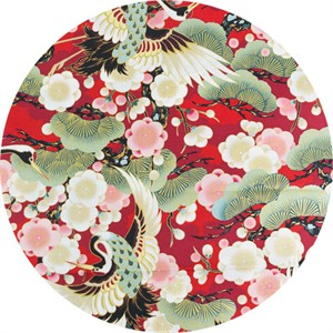 Japanese Import, Celebration METALLIC, Traditional Garden Red