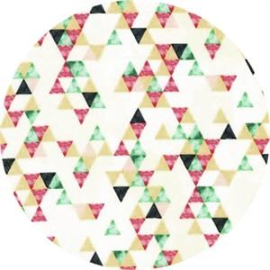 Hailey Hoffman for Hoffman Fabrics, Summer Punch, Triangle Toss Flamingo