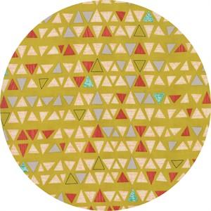 Jenn Ski for Moda, Ninja Cookies, Triangles Chartreuse
