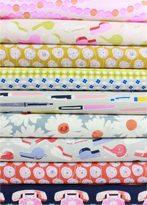 Melody Miller for Cotton and Steel, Trinket, Retro in FAT QUARTERS 9 Total