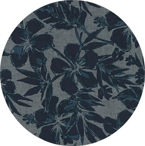 Robert Kaufman, Chambray BLVD. Prints, Tropical Denim