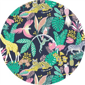 Josephine Kimberling for Blend, Tropical Paradise, Tropical Friends Navy