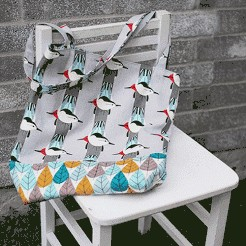 Tutorial: Charley Harper Quick Sew Tote by Christina McKinney