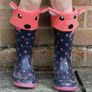 Tutorial: Fox & Bear Welly Liners by The Crafty Kitty