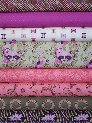 Tula Pink, Acacia, Nocturnal 8 FAT QUARTERS in Total