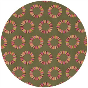 Tula Pink, Acacia, Pineapple Slices Olive