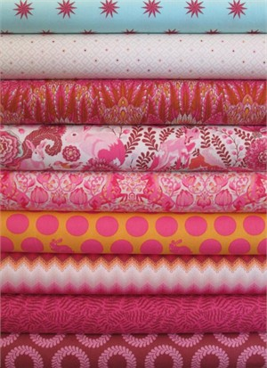 Tula Pink, Fox Field, Sunrise in FAT QUARTERS 6 Total