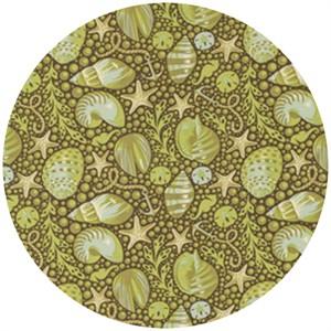 Tula Pink, Saltwater, Bubble Shells Seaweed
