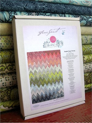 Tula Pink, Salt Water, Hex on the Beach Quilt Top Kit