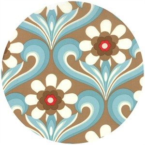 Urban Chiks, Boho, Flower Damask Blue