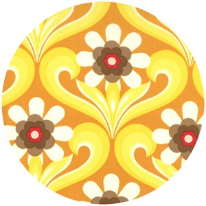 Urban Chiks, Boho, Flower Damask Yellow