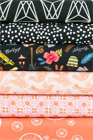 Fabricworm Custom Bundle, Vacation Bound in FAT QUARTERS 6 Total
