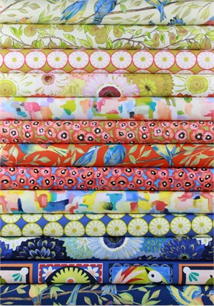 Laura Gunn for Michael Miller, Valencia in FAT QUARTERS 11 Total