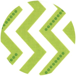 V & Co, Simply Color, Dotted Zig Zag Lime Green