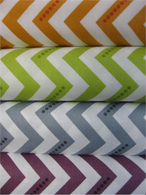 V & Co, Simply Color, Dotted Zig Zag Sampler in FAT QUARTERS, 4 Total