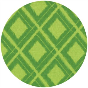 V & Co, Simply Color, Ikat Diamonds Lime Green