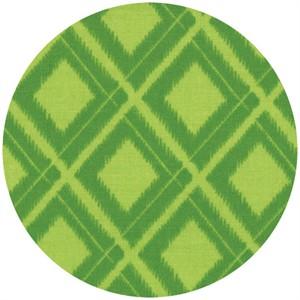 V & Co, Simply Color, Ikat Diamonds Lime Green