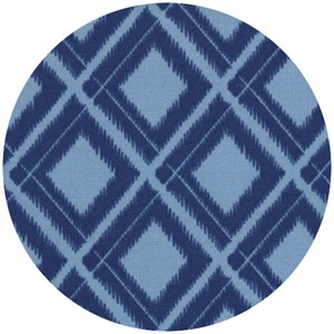 V & Co, Simply Color, Ikat Diamonds Navy Blue