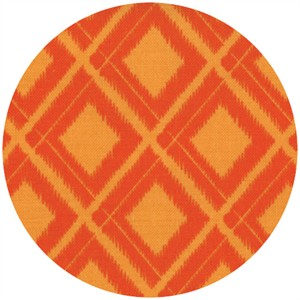 V & Co, Simply Color, Ikat Diamonds Sweet Tangerine