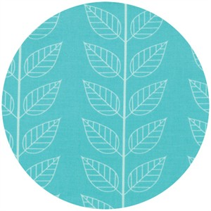 V & Co, Simply Color, Leafy Stripe Aquatic Blue