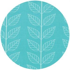 V & Co, Simply Color, Leafy Stripe Aquatic Blue