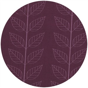 V & Co, Simply Color, Leafy Stripe Eggplant