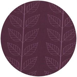 V & Co, Simply Color, Leafy Stripe Eggplant