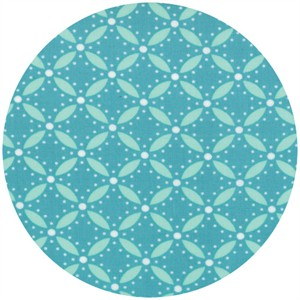 V & Co., Simply Style, Geometric Eyelet Aquatic Blue