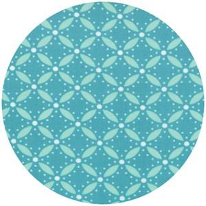 V & Co., Simply Style, Geometric Eyelet Aquatic Blue