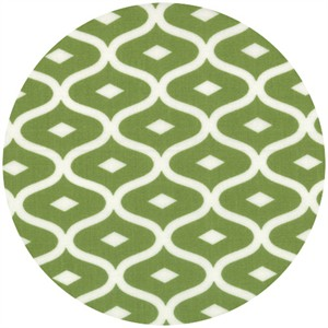 V & Co., Simply Style, Geometric Ogee Lime Green