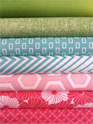 V & Co, Simply Style, Honey Suckle Pink in FAT QUARTERS 7 Total